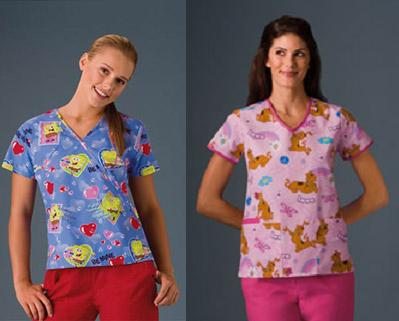 0925e4a59ef Cartoon Print Scrub Tops | Healthcare News, Update and Unforms at ...