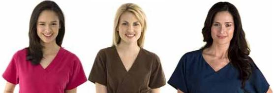 v-neck scrub tops