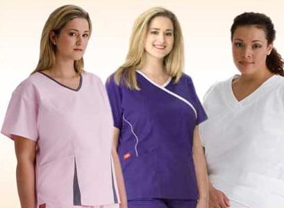 plus size medical scrubs