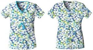 Floral Pix Print | Cherokee Body Collection | Pulse Uniform
